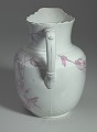 View White and pink pitcher and washbowl owned by members of the Ellis family digital asset number 5