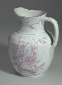 View White and pink pitcher and washbowl owned by members of the Ellis family digital asset number 8