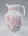 View White and pink pitcher and washbowl owned by members of the Ellis family digital asset number 12