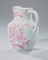 View White and pink pitcher and washbowl owned by members of the Ellis family digital asset number 13