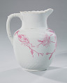 View White and pink pitcher and washbowl owned by members of the Ellis family digital asset number 17