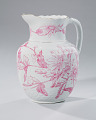 View White and pink pitcher and washbowl owned by members of the Ellis family digital asset number 20