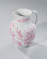 View White and pink pitcher and washbowl owned by members of the Ellis family digital asset number 21