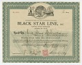 View Stock certificate issued by Black Star Line to Amy McKenzie digital asset number 0
