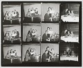 View Contact sheet of photographs of Nat King Cole playing the piano digital asset number 0