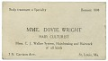 View Business card of Mme. Dovie Wright, hair culturist digital asset number 0