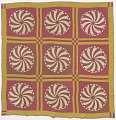 View Pink and yellow pinwheel quilt made by Elizabeth Salter Smith digital asset number 0