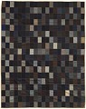 View Blue, black, gray, and brown bedcover made from suiting samples digital asset number 0