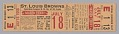 View Season ticket for the St. Louis Browns baseball team digital asset number 0