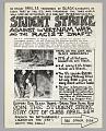 View Flyer advertising student strike against the Vietnam War digital asset number 0