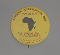 View Pinback button promoting African Liberation Day digital asset number 2