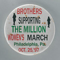 """View Pinback button for """"Brothers supporting the Million Women's March"""" digital asset number 0"""