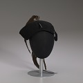 View Black cap with long brown feather plume from Mae's Millinery Shop digital asset number 7