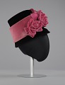 View Black and pink beehive hat with pink flowers from Mae's Millinery Shop digital asset number 4