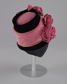 View Black and pink beehive hat with pink flowers from Mae's Millinery Shop digital asset number 5
