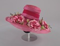 View Pink mushroom hat with flowers from Mae's Millinery Shop digital asset number 1