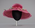 View Pink mushroom hat with flowers from Mae's Millinery Shop digital asset number 2