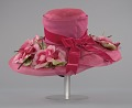 View Pink mushroom hat with flowers from Mae's Millinery Shop digital asset number 3