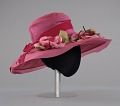 View Pink mushroom hat with flowers from Mae's Millinery Shop digital asset number 4