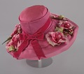 View Pink mushroom hat with flowers from Mae's Millinery Shop digital asset number 5