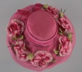 View Pink mushroom hat with flowers from Mae's Millinery Shop digital asset number 6