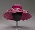 View Pink mushroom hat with flowers from Mae's Millinery Shop digital asset number 7