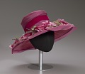 View Pink mushroom hat with flowers from Mae's Millinery Shop digital asset number 8