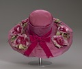 View Pink mushroom hat with flowers from Mae's Millinery Shop digital asset number 9