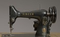 View Singer sewing machine and table from Mae's Millinery Shop digital asset number 8