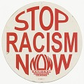 """View Placard with """"STOP RACISM NOW"""" message digital asset number 0"""