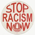 """View Placard with """"STOP RACISM NOW"""" message digital asset number 1"""