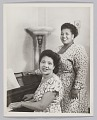 View Photograph of Velma Middleton and an unidentified woman at a piano digital asset number 0