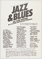 View Flier for Jazz and Blues All Star Festival in Stockholm digital asset number 0