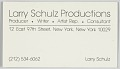 View Business card for Larry Schulz Productions digital asset number 0
