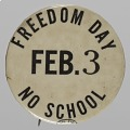 View Pinback button for NYC School boycott digital asset number 0