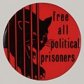 "View Pinback button with ""Free All Political Prisoners"" slogan digital asset number 0"