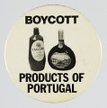 View Pinback button advocating for a boycott of Portuguese products digital asset number 0