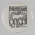 View Pinback button for David Dinkins mayoral campaign digital asset number 0