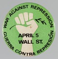 View Pinback button with War Against Repression / Guerra Contra Represión digital asset number 0