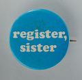 View Pinback button for promoting voting registration digital asset number 0