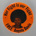 View Pinback button supporting Angela Davis digital asset number 0