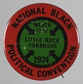 View Pinback button for the 1974 National Black Political Convention digital asset number 0