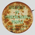 View Pinback button for the Assembly of Unrepresented People digital asset number 0