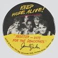 View Pinback button for Jesse Jackson and the Democratic Party digital asset number 0
