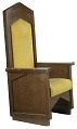 View Pastor's chair from the First African Methodist Episcopal Church of Los Angeles digital asset number 1