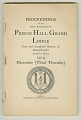 View <I>Proceedings of the Most Worshipful Prince Hall Grand Lodge Free and Accepted Masons of Massachusetts Located at Boston 1904 December (Third Tuesday)</I> digital asset number 0