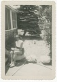 View Digital image of a woman posing at the Taylor family home on Martha's Vineyard digital asset number 0