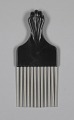 View Afro hair comb with black fist design digital asset number 1