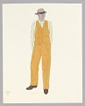 View Costume design drawing by Judy Dearing for Robbins in Porgy and Bess digital asset number 0