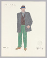View Costume design drawing by Judy Dearing for Bobo in A Raisin in the Sun digital asset number 0